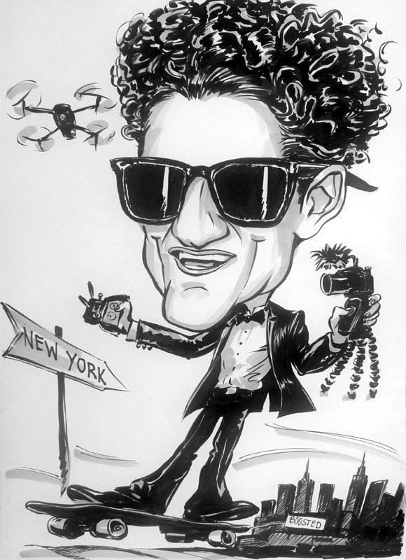 Caricature from photo of Casey Neistat