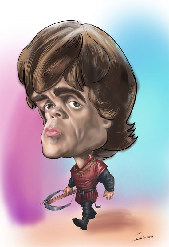 Digital caricature on iPad Tyrion Lannister | Game of Thrones