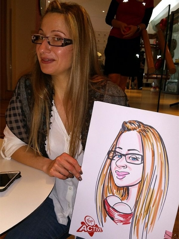Caricatures at Virgin Active