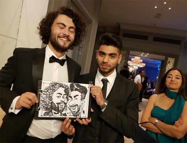 Award caricature entertainment