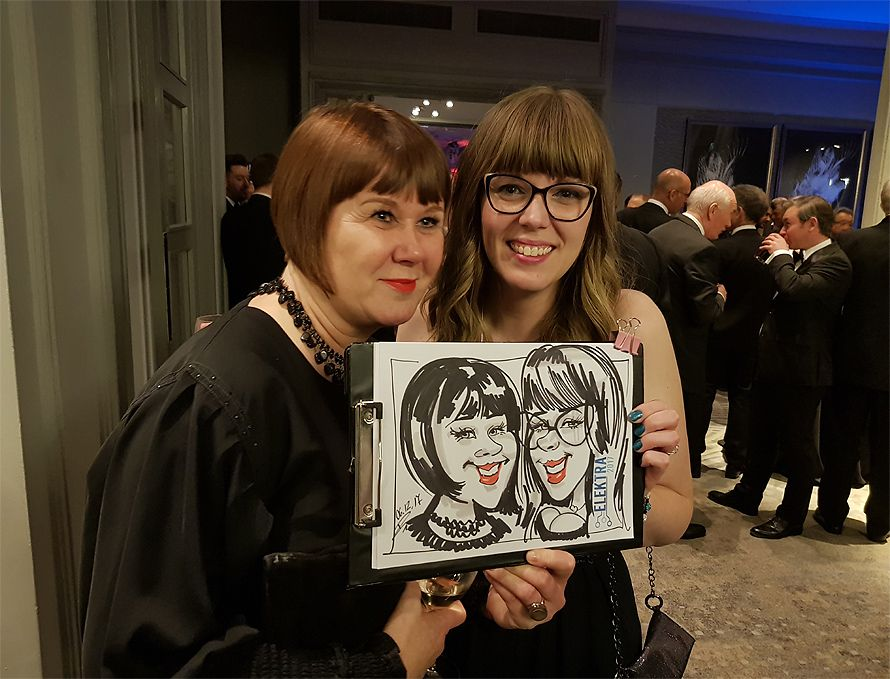 Award fun caricatures