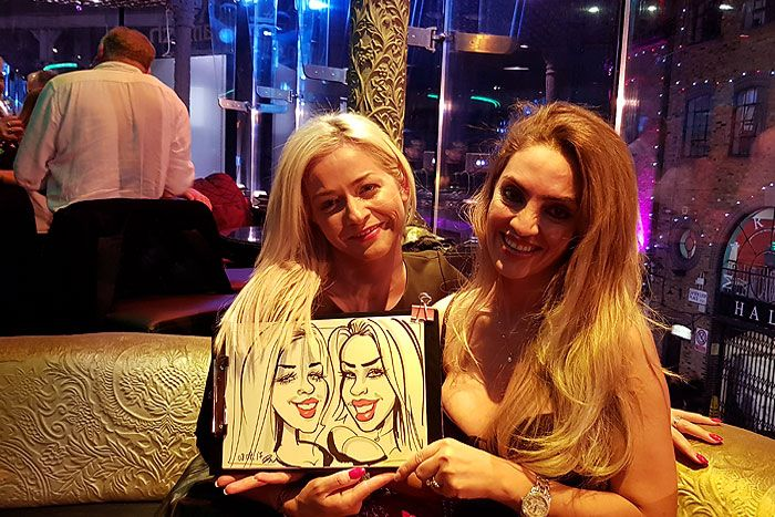 Celebrity birthday party caricatures