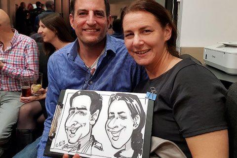 Birthday party caricature artist