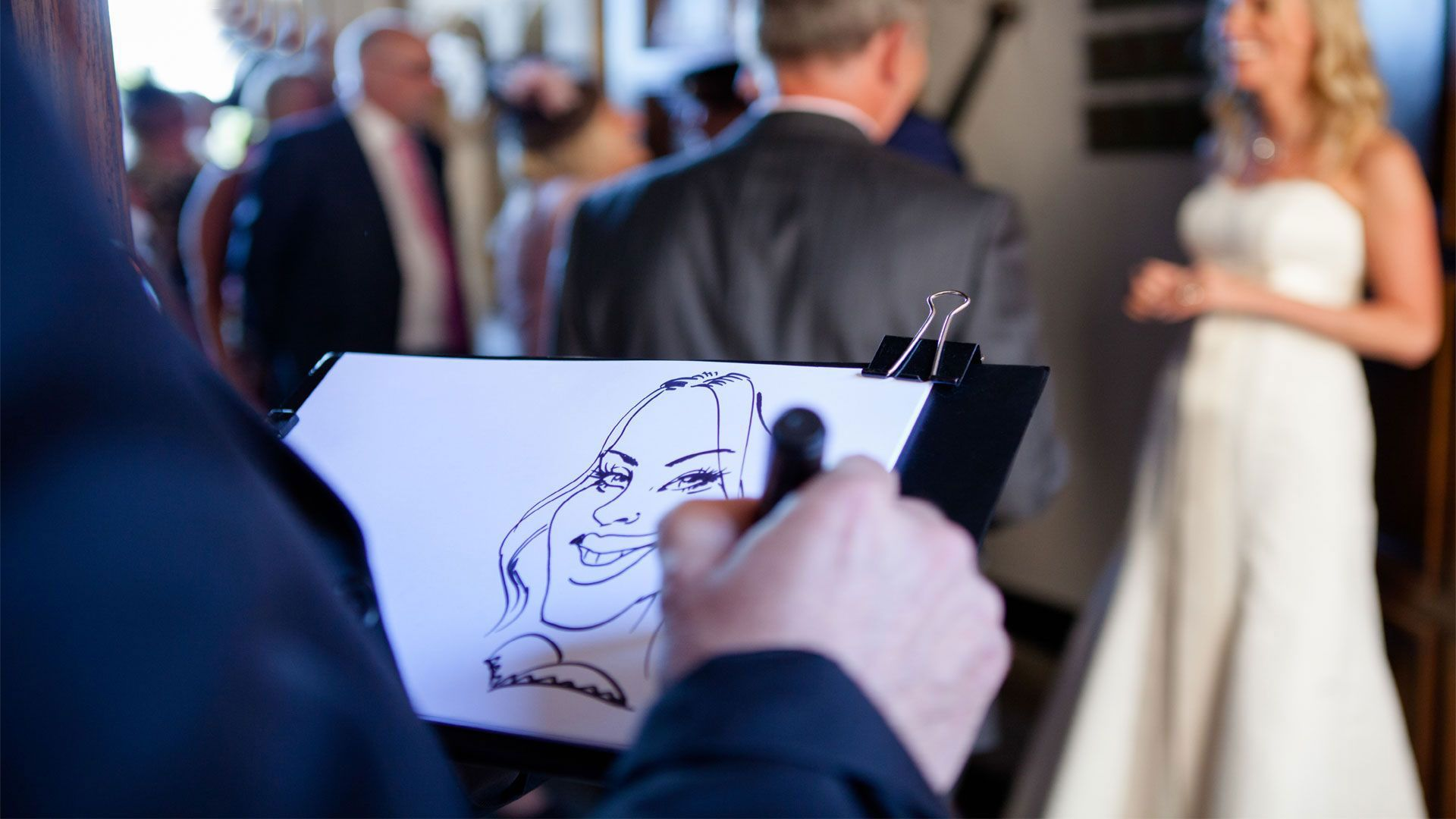 Caricature artist entertainment