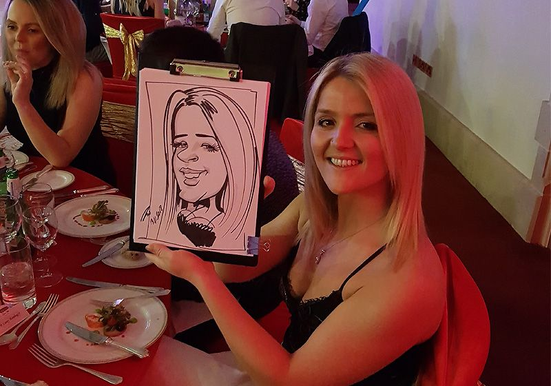 Caricatures at party entertainment