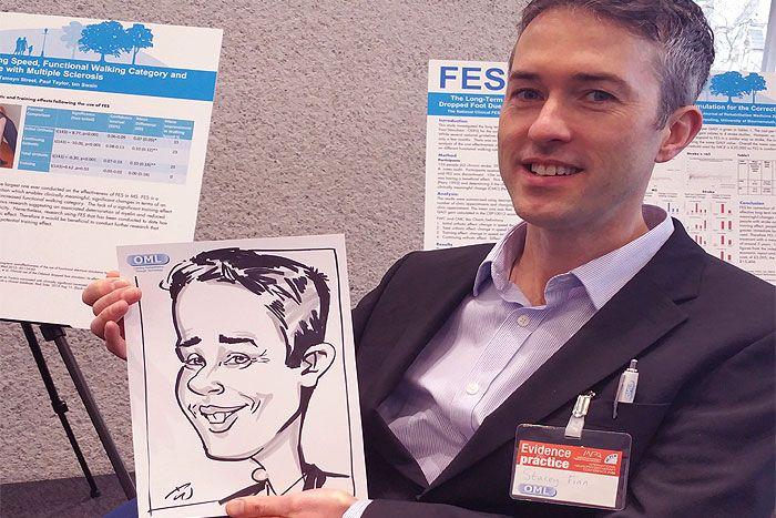 Exhibition caricatures