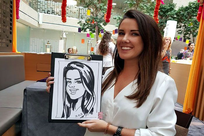 Coutts Bank corporate event caricature artist