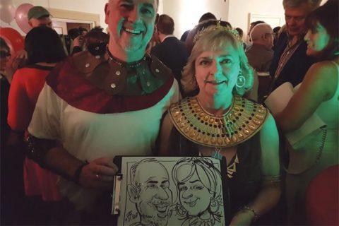 Fancy dress party caricatures