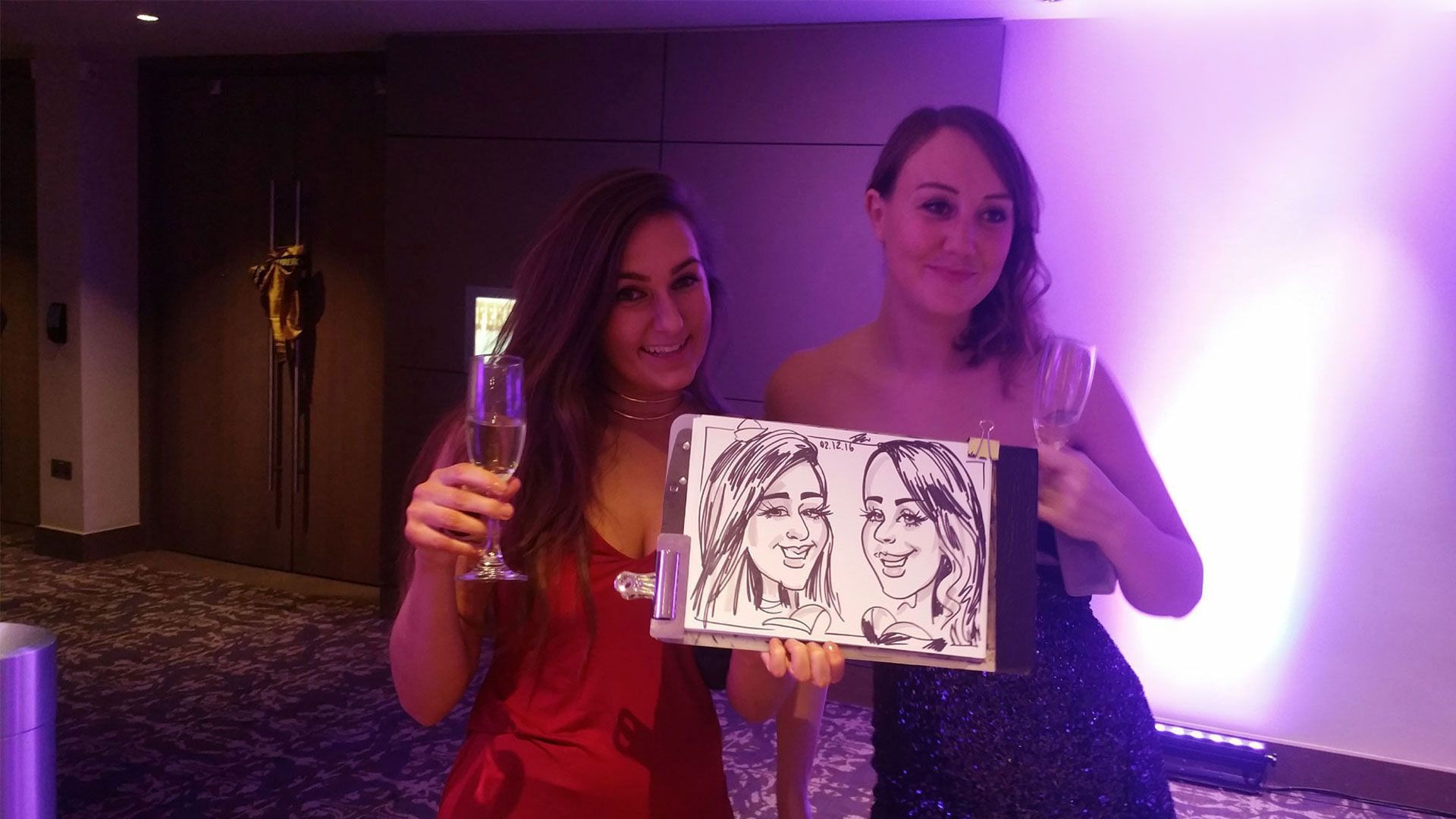 Christmas party caricature artist
