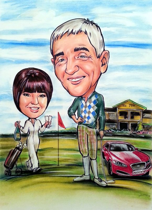 Golf caricature from photo