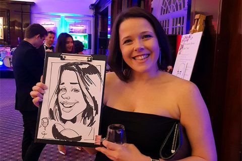 Caricatures on corporate event