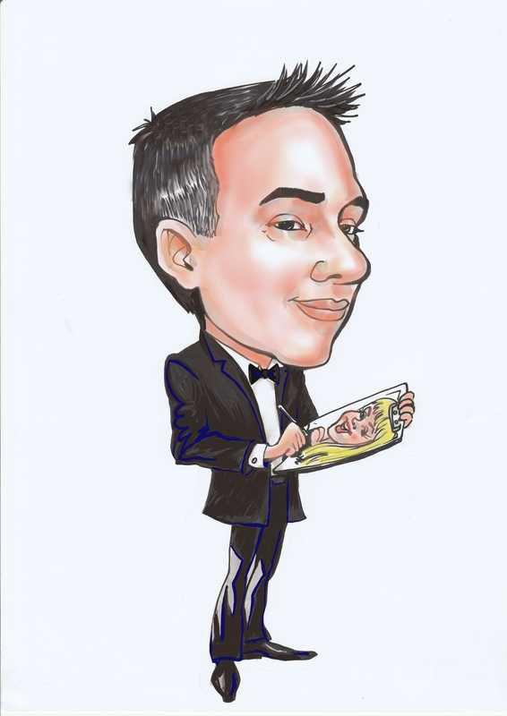 Digital caricature on iPad caricature artist