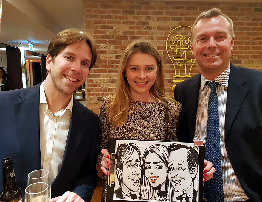 Christmas party caricatures for MasterCard