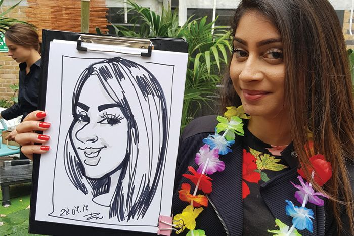 London party caricatures