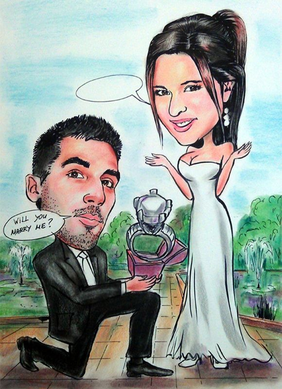 Caricature from photos on proposal