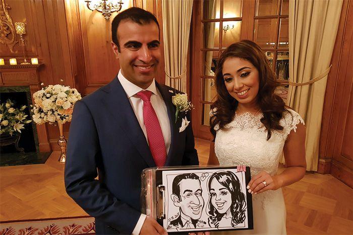 wedding caricaturist