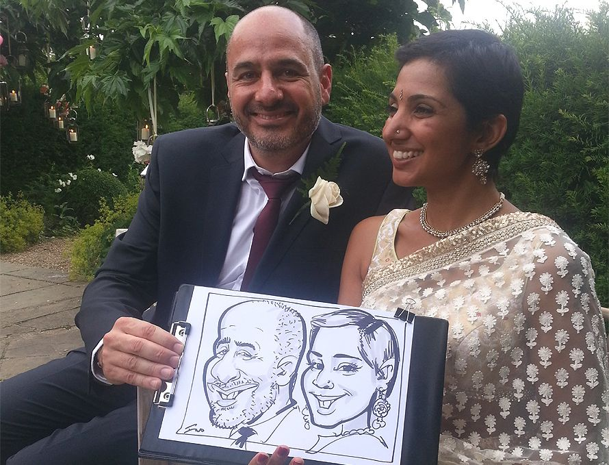 Indian wedding caricatures