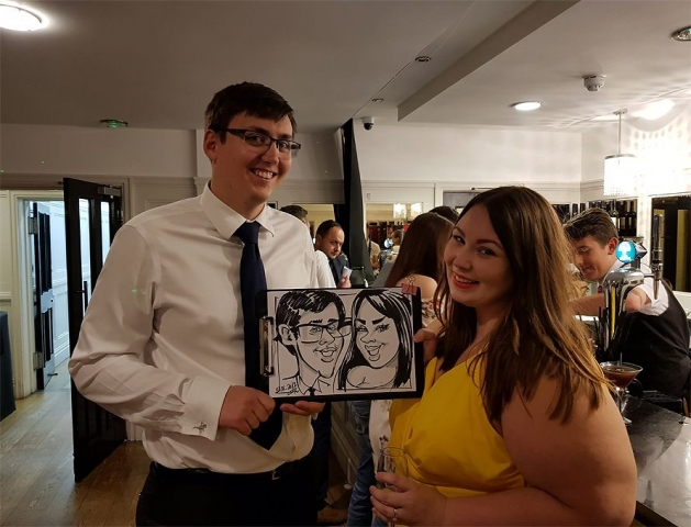 Wedding caricature artist