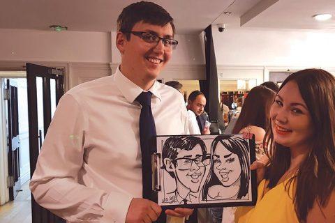 Wedding caricature drawings