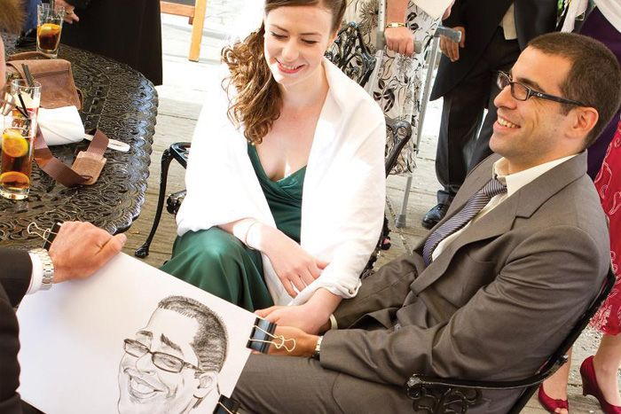 Wedding caricatures Surrey
