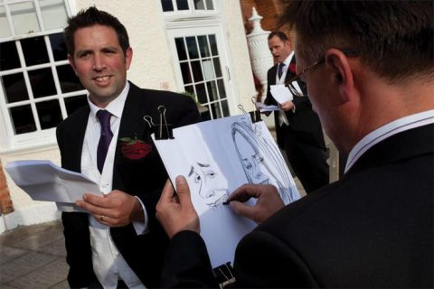 Caricature of the groom