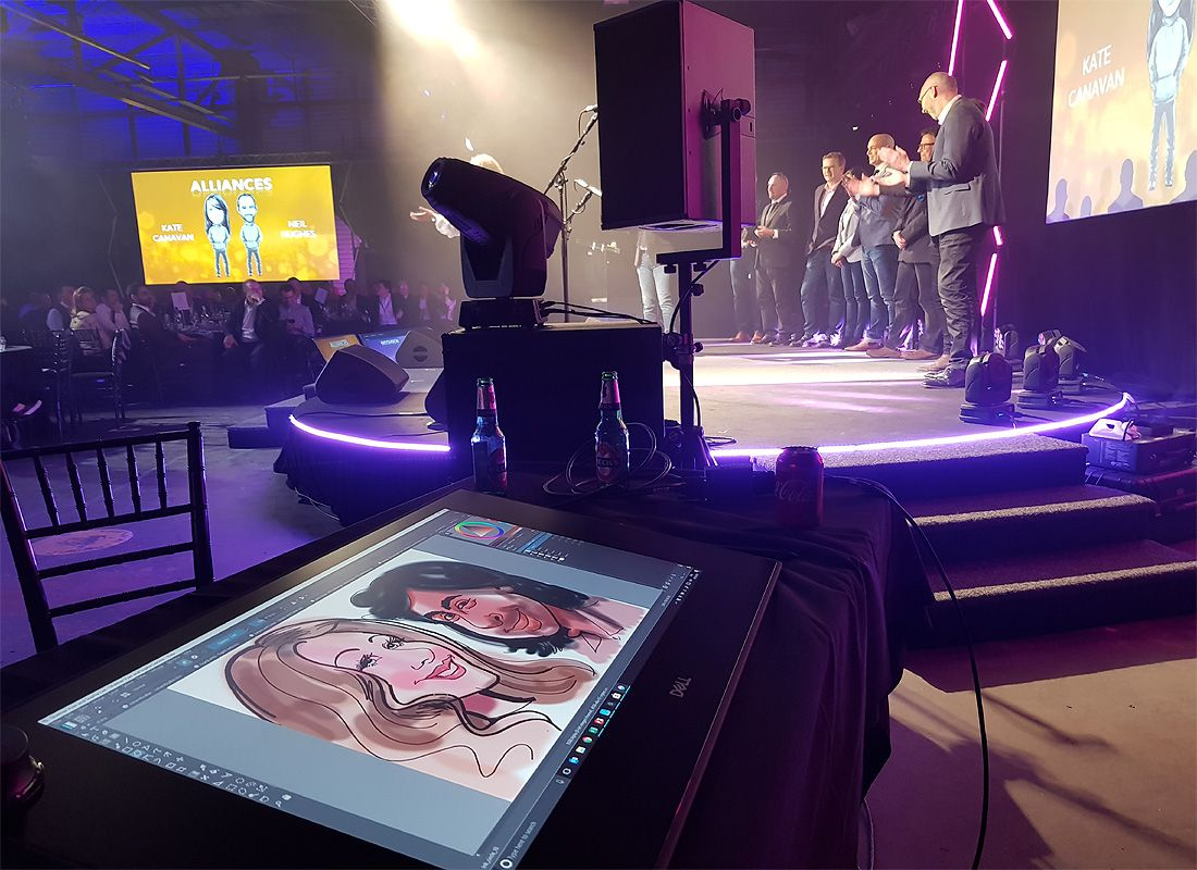 Digital caricatures on Dell Canvas