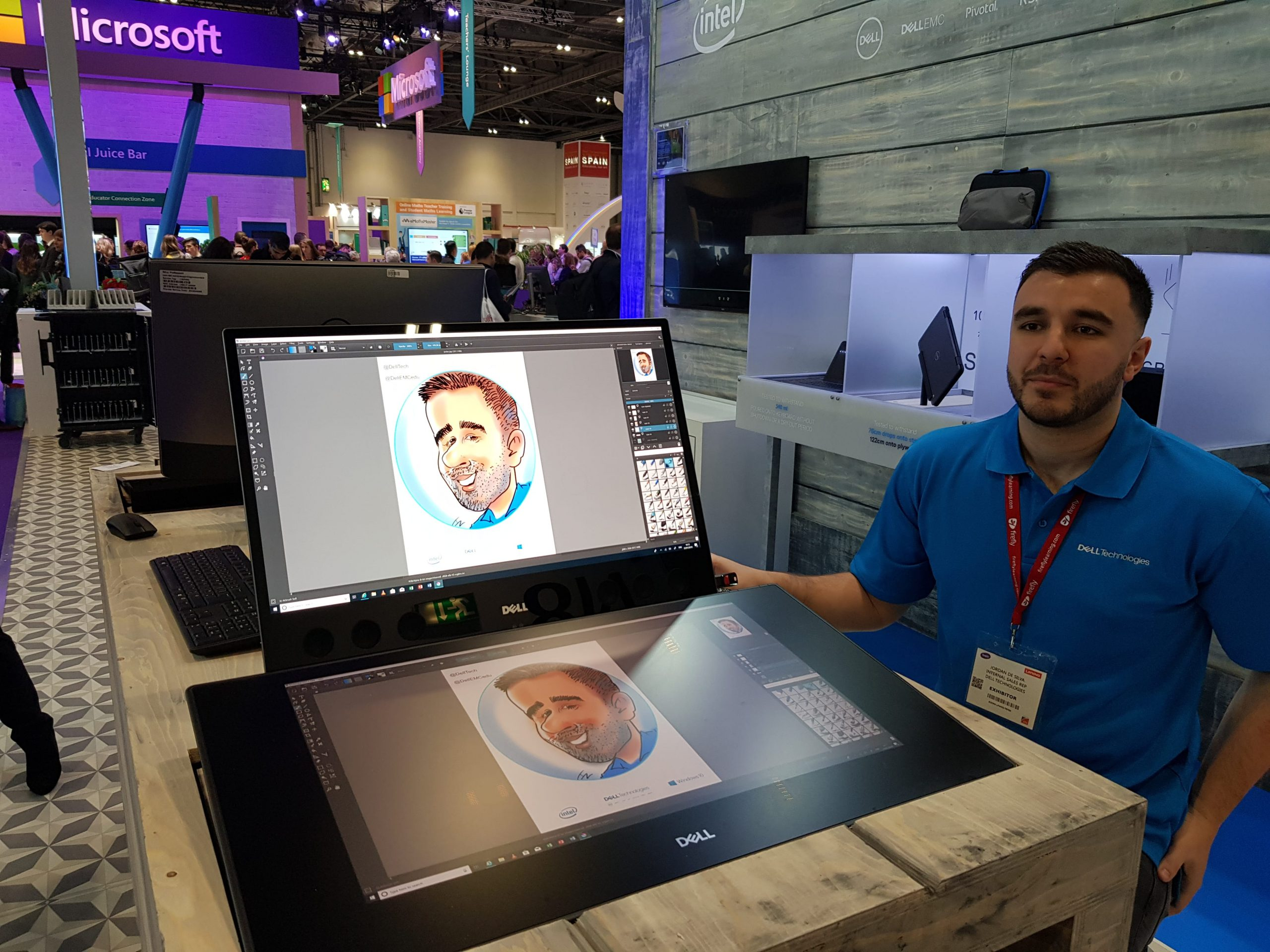 Caricatures on Dell Canvas