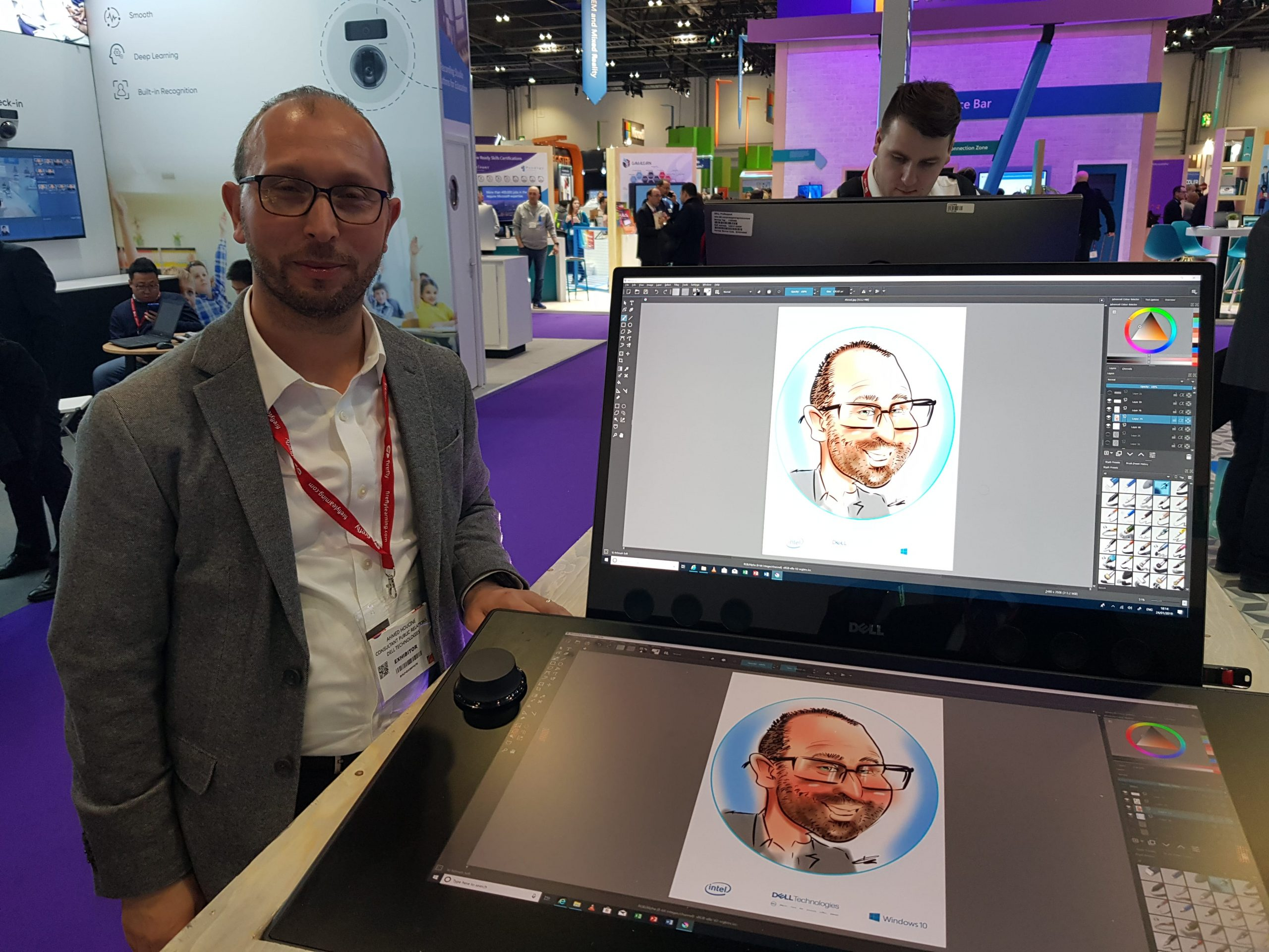 Colour funny caricatures