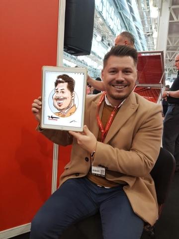 exhibition digital caricature