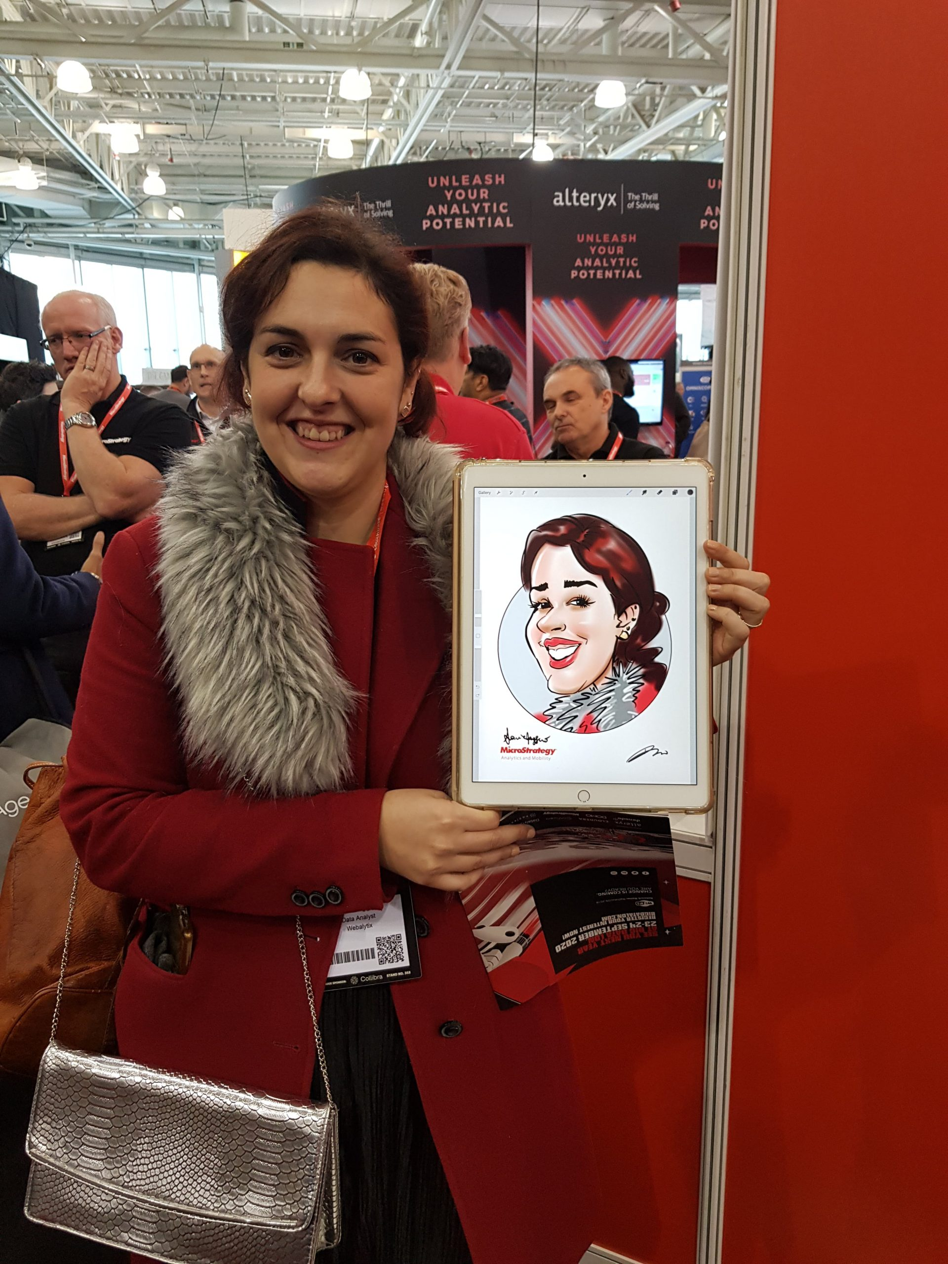 exhibition live digital caricature